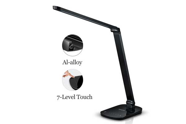 Guanya F118 Dimmable Energy Efficient Aluminum Alloy LED Desk Lamp