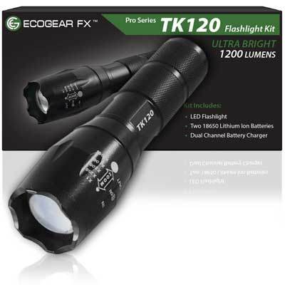 ECOGEAR FX TACTICAL LED FLASHLIGHT