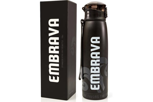 Stainless Steel Water Bottle by Embrava