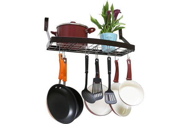 Deco-Bros Wall Mount Pot Pan-Rack