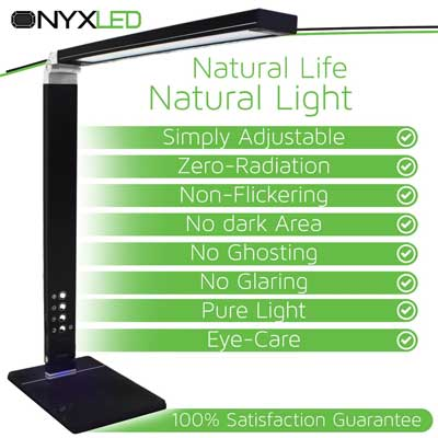 NYXLED Dimmable 14W LED Desk Lamp