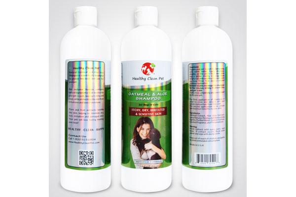 Healthy Clean Pet -Oatmeal and Aloe-Shampoo for Pets