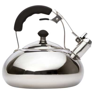 Vanika Stainless Steel Whistling Tea Kettle, 3.2 Quart
