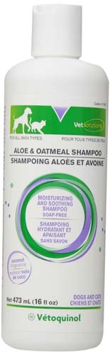 Vet Solutions Aloe and Oatmeal Shampoo, 16-Ounce
