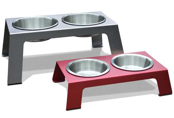 PetFusion Elevated Pet Feeder in Anodized Aluminum