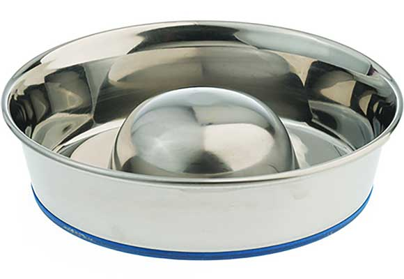 OurPets Premium DuraPet Slow Feed Dog-Bowl