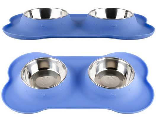 Fossa No-Spill Stainless Steel Dog Food Bowls