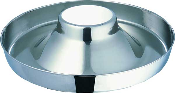 Indipets Extra-Heavy Stainless Steel Puppy Saucer