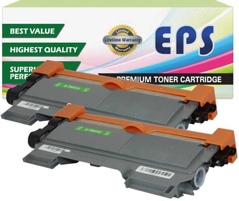 2 Pack EPS Replacement Brother Replacement Brother TN450 Black Toner Cartridges