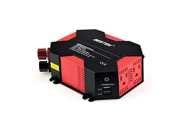 BESTEK Power Inverter 400W Car Adapter with 5A four USB Charging Ports