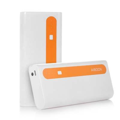 Aibocn Power Bank 10000mAh Dual USB Charger with Flashlight