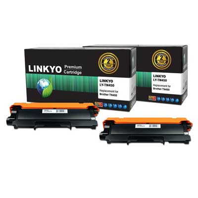 2-Pack LINKYO Compatible Replacement for Brother TN450 TN420 High Yield Toner Cartridge