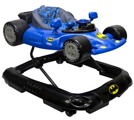WB KidsEmbrace Baby Batman Activity Walker, Car Music and Lights