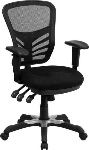 Offex HL-0001-GG Mid-Back Chair with triple Paddle Control
