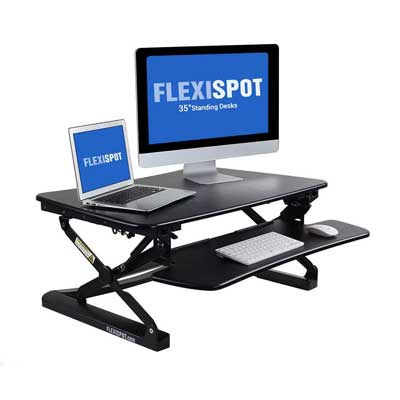 "FlexiSpot M2B Standing Desk with Removable Keyboard Tray, 35"" wide"
