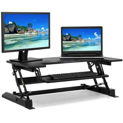 "Best Choice Products Standing Desk 36"" Tabletop Sit to Stand Workstation"
