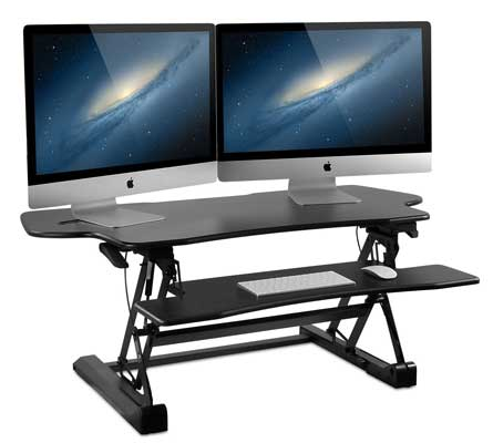Mount-It! 48 Inch Extra Wide Height Adjustable Sit-Stand Desk Converter