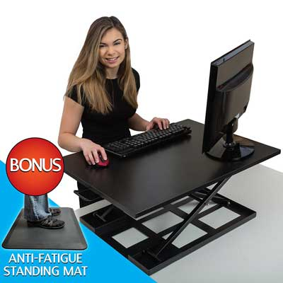 Koozam Standing Desk with Anti Fatigue Mat