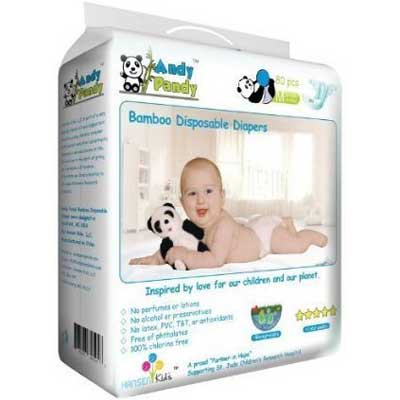 Eco-Friendly Premium Bamboo Disposable Diapers by Andy Pandy