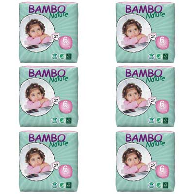 Bambo Nature Baby Diapers Classic, Size 6