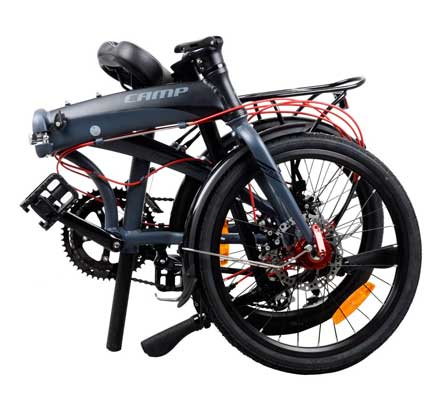 Camp 20-Inch 16 Speed Folding Bike with Disc Brake