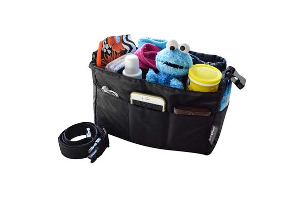 Diaper Bag Insert Organizer for Stylish Moms, Black, 12 pockets, Turn Your Favorite Tote Bag into A Trendy Diaper