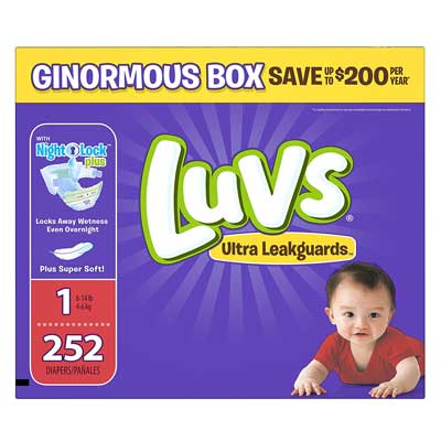 Luvs Ultra Leakguards Disposable Diapers Newborn Size 1