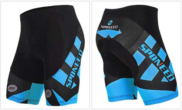 Sponeed Men's Padded Bike Shorts