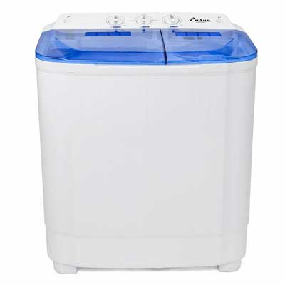 Ensue Mini Portable Washer Machine Electric With Spin Cycle Eight LBS Laundry Load