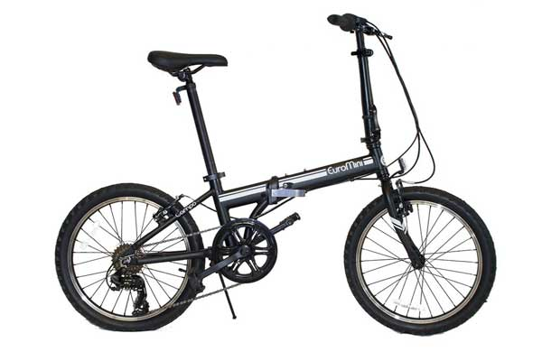 EuroMini Campo 28lb Lightweight Aluminum Frame Shimano 7-Speed Folding Bike 20-Inch