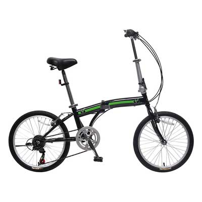 IDS Home Unyousual U Arc 6 Speed Folding City Bicycle