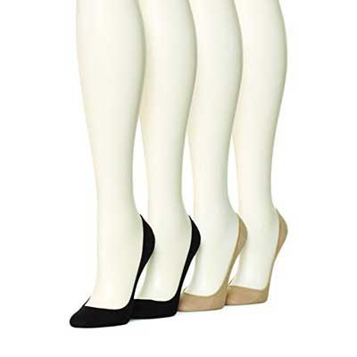 HUE Women's Hidden Cotton Liner Socks