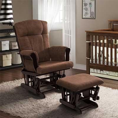 Baby Relax Espresso Glider and Ottoman