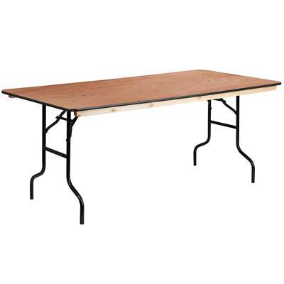"Flash Furniture 36"" x 72"" Rectangular Wood Folding table"