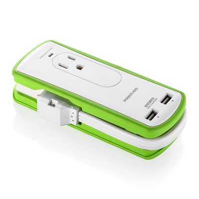 Poweradd 2-Outlet Mini Portable Travel Surge Protector