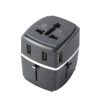 BONAZZA Universal International Travel Adapter