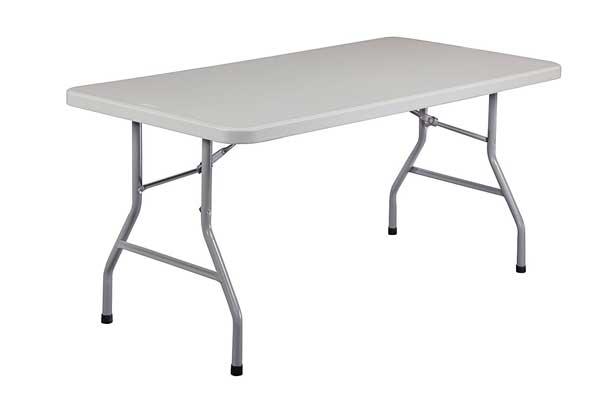 National Public Seating BT3060 Steel Frame Rectangular Blow Folding Table