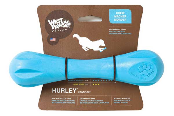 West Paw Design Zogoflex Hurley Guaranteed Tough Dog Bone Chew Toy