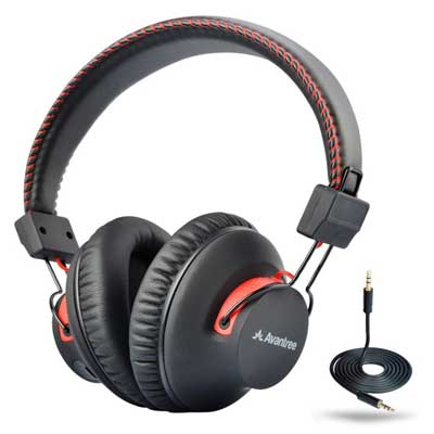 Avantree 40 hours DUAL Mode Bluetooth Over-Ear Headphones with Mic