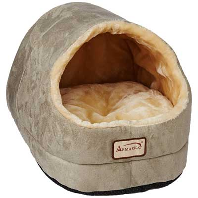 Armarkat Cave Shape Pet Cat Beds for Cats and Small Dogs