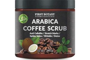 100% Natural Arabica Coffee Scrub 12oz. With Organic Coffee, Coconut and Shea Butter