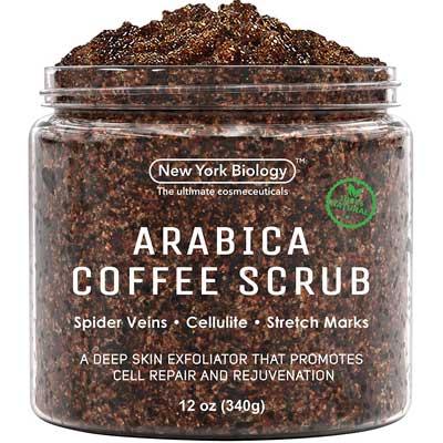 New York Biology Natural Arabica Coffee Body Scrub, 12- ounce