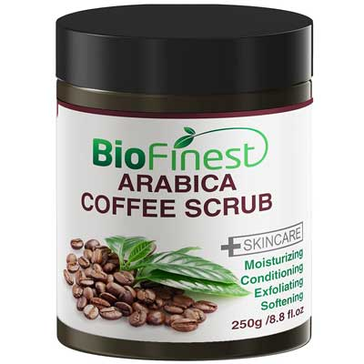 Biofinest Arabica Coffee Scrub: Best for Varicose Veins, Cellulite, Stretch Marks, Eczema and Acne