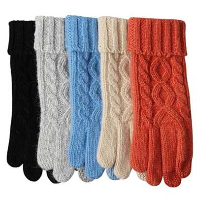 ELMA Women's Texting Touchscreen Winter Cold Weather Super Warm gloves
