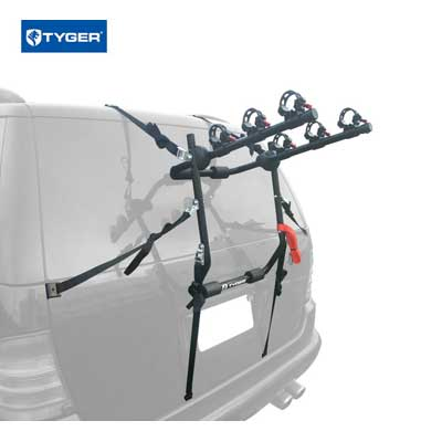 TYGER Deluxe Black 3-Bike Carrier Rack