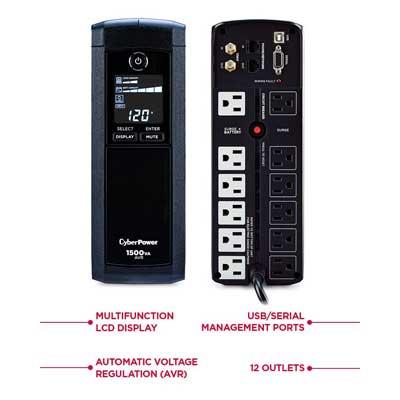 CyberPower CP1500AVRLCD UPS System