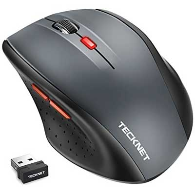 TechNet Classic 2.4G Portable Optical Wireless Mouse