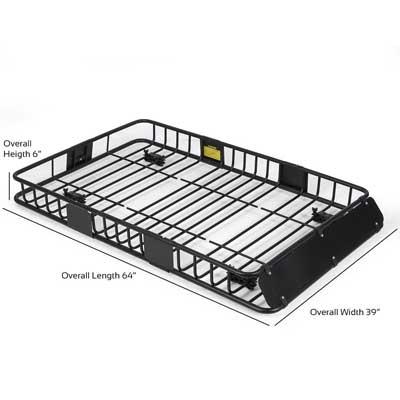 "ARKSEN 64"" Universal Black Roof Rack"