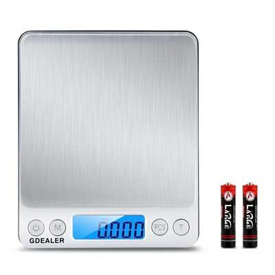 GDEALER Digital Pocket Kitchen Scale