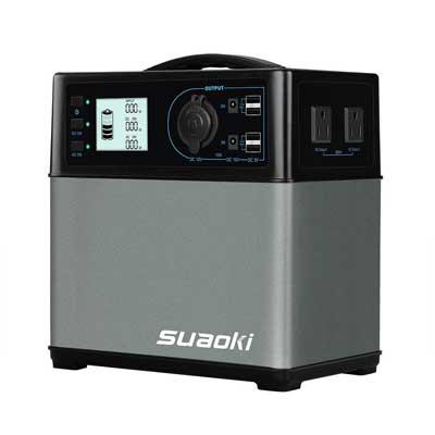 Suaoki 400Wh/120,000mAh Portable Solar Generator Lithium ion Power Source